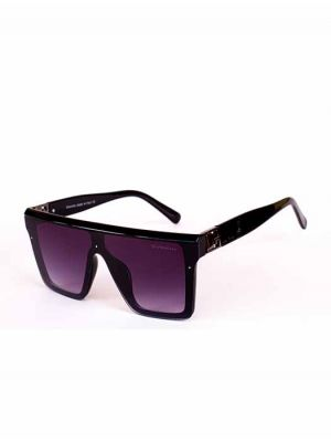 Givenchy Black Shield Design Sunglasses with Purple Lens