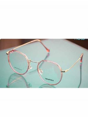 Newmew Stylish Pink and Gold Metal Frames