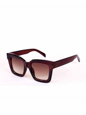 Semi-Transparent Maroon Sunglasses with Faded Lens