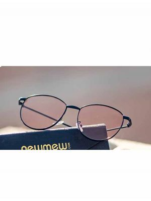 Casual Black Sunglasses with Light Brown Lens