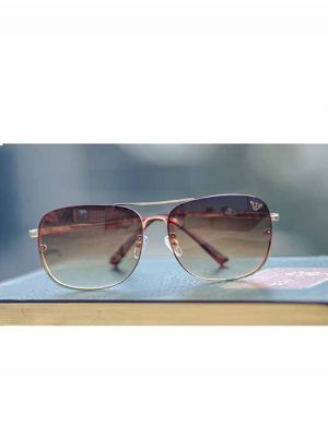Casual and Bold Brown-Gold Sunglasses