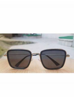 Iconic and Popular Silver-Black Metal Sunglasses