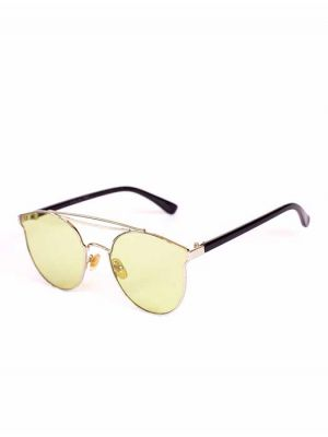 Stylish Post-Vintage Cateye Sunglasses with Green Shade